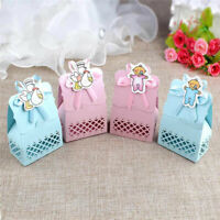 12Pcs Baby Shower Favors Candy Box Christening Gift Baptism Birthday Party Decor