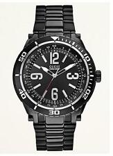 Guess Black Ionic-Plated Racing Sport Watch U0043G2