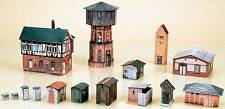 Auhagen HO scale Water Tower Set paper model kit