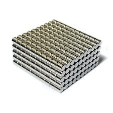 "500pcs 7/32"" x 7/32"" Cylinder 6x6mm Neodymium Magnets Refrigerator Permanent N35"