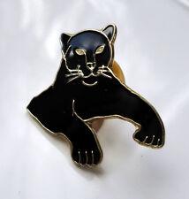 ZP288 Black Panther Cat Enamel Lapel Pin Badge Brooch