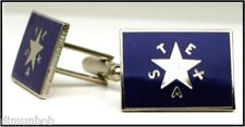 Texas Historical First Flag Cuff Links (DeZavala Flag)