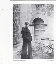 "*POSTCARD-""Mission Santa Barbara"" -w/Priest Outside- @ Missions of S. Ca. (#33)"