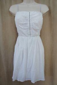 City Triangles Juniors Dress Sz 11 White Spaghetti Adjustable Strap Casual Dress