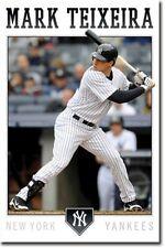 New York Yankees Mark Teixeira Poster Art 22x34 T1386