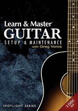 Learn and Master Guitar Setup and Maintenance 3 DISK SET DVDs - NEW  000321120