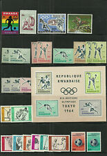 Rwanda-( Olympics ) 26 Stamps, Various Games, Nice Group