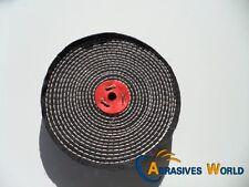 "8""X1"" 200mm X 25mm Black Close Spiral Sewn Buffing Wheel for polishing metal"
