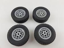 Lego® Technic 4 Räder Reifen 62.4 X 20S  Technik grau hellgrau Felgen