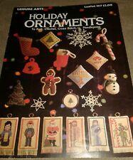 Leisure Arts Crochet Knit Cross Stitch Design Leaflet 107 Holiday Ornaments 1977
