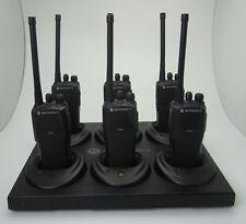 6 x Motorola CP040 VHF Funkgerät CP 040 mit 6er Original Schnelllader