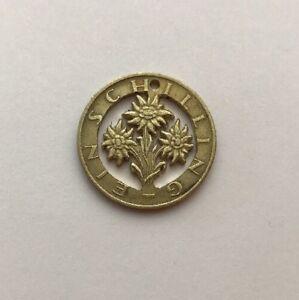 1983 Austria 1 Shilling Cut Coin