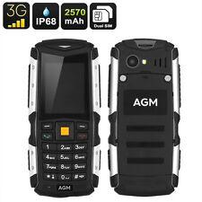 Tough Rugged 3G Simple Button Phone AGM M1 IP68 2570mAh Battery 2MP Camera