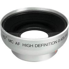 Vivitar 0.43x Professional Wide Angle Camcorder camera Lens w/ Macro attachment
