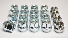 16 x M12 x 1.25, 19mm Hex Open Alloy Wheel Nuts (Zinc)
