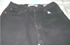 Levi's 550 Black Relaxed Fit Denim Jeans Mens 33 x 30 Red Tab