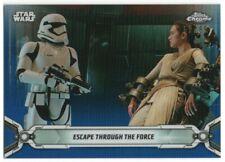 2019 Star Wars Chrome Legacy Blue Refractors 167 Rey Escape through Force 59/99