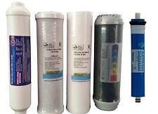 5 Stage Reverse Osmosis Cartridges Sediment, Alkaline + Carbon x 2 + Membrane