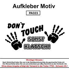DONT TOUCH SONST Autoaufkleber Aufkleber Fun Spaß Sticker Tuning Lustige Sprüche