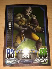 Force Attax Star Wars Rebels Spiegelfolienkarte Nr.143 ZEB Sammelkarte