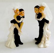 Hochzeitspaar Tortenfigur 2 Stück Brautpaar Hochzeitsdeko Hochzeitspärchen