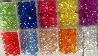 Crystal Faceted Rondelle BEADS 10 Diff  colors, BUY 1 GET 1 FREE Double Discount