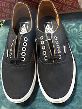 Vans Authentic Decon Premium Leather Parisia Mens Size 6.5 Brand NEW Dk Navy