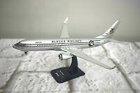 Hogan Alaska Airlines Boeing 737-800 Starliner Desk Model w/ Stand 1:200 Scale