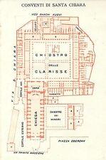 Carta geografica antica NAPOLI Monastero Santa Chiara TCI 1927 Old antique map