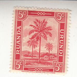 Ruanda-Urundi 1942. 5c - Palms - Red - SG120. MLH