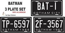 Batman / 1966 Batmobile / BAT-1 *ALL ALUMINUM* Replica Prop License Plate SET
