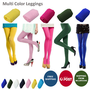 Colourful Women's 80 Denier Opaque Pantyhose Stockings Hosiery Tights 8 Colours