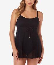 5d6ea1803c New Listing NEW Swim Solutions Black Crochet Tummy Control Swimdress size 8