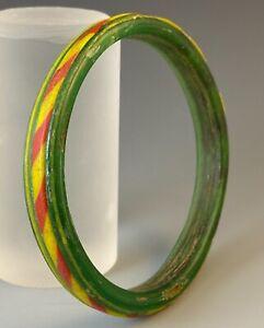 ANCIENT ROMAN GREEN GLASS BRACELET 1ST-2ND CENT A.D. OUTSTANDING COLORS!