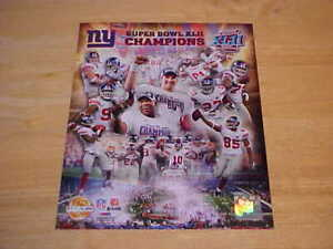 New York Giants Super Bowl XLII Champs PF GOLD 8X10 Photo FREE SHIPPING 3/more