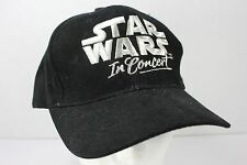Star Wars in Concert Baseball Hat Black Silver Embroidered Logo Adjustable