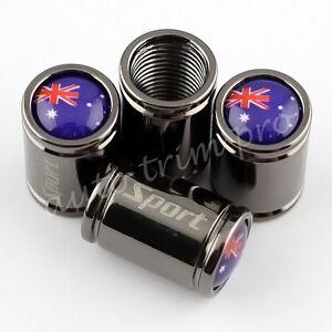 Car Accessories Tyre Tire Air Dust Valve Cap Cover For Australia Flag Titanium
