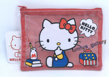 Sanrio Hello Kitty Zipper Cosmetic Make Up Bag Travel Storage Pouch R