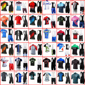 2021 Men Team Bike Uniform Cycling Jersey Set Short Sleeve Tops Bicycle Outfits