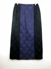 NWT Morbid Threads Goth Steampunk Maxi Skirt L Black Purple Brocade Cosplay