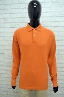 Polo FILA Uomo Taglia Size 52 Maglia Camicia Top Shirt Cotone Arancione Man