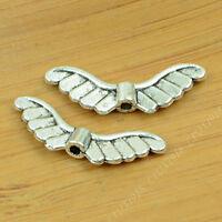 20pc Retro Tibetan Silver Angel wings Spacer Bead Jewellery Accessories PY684