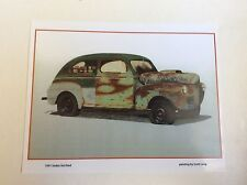 1941 Ford Sedan Hot Rod Illustration 8x10 Reprint Garage Decor