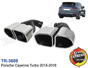 Exhaust tips tailpipes trims for Porsche Cayenne Turbo 2015-2016