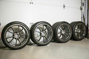 "OEM ORIGNAL PORSCHE 911 GT3/GT3RS/R 20"" WHEELS CENTERLOCK SET OF FOUR"