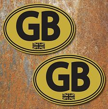 GB Union Jack Laminated Stickers 130x90mm Car Camper Motorbike Vespa Decal G