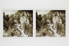 Mont-Blanc France Photo E34 Stereo Plaque de verre 1927