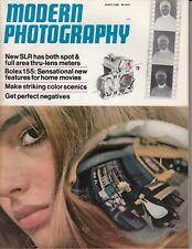 Modern Photography March 1968 Magazine, Kodak ad, cameras,  Bolex 155  /f3