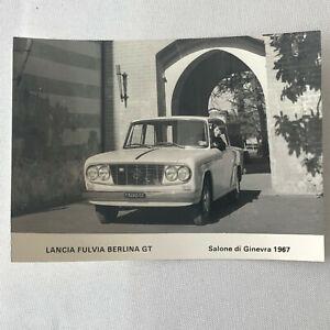 Vintage 1967 Lancia Fulvia Berlina GT Factory Photo Photograph