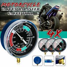4pcs Moto Carb Carburatore Carburante Vacuometro Bilanciere Sincronizzare